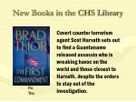 new books in the chs library41