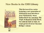 new books in the chs library46