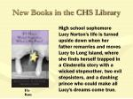 new books in the chs library49