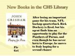 new books in the chs library55