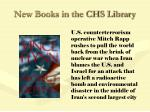 new books in the chs library57