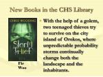 new books in the chs library66