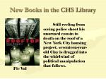 new books in the chs library69