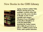 new books in the chs library78