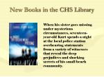 new books in the chs library80