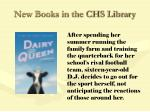 new books in the chs library84