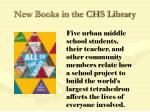 new books in the chs library85