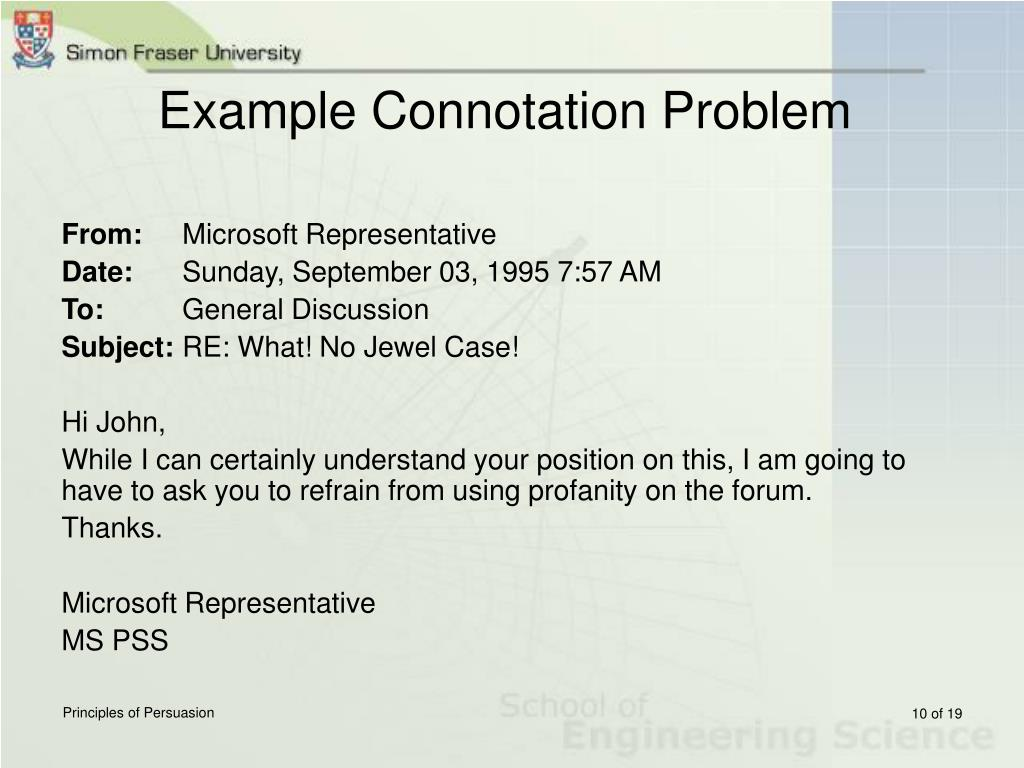 Example Connotation Problem