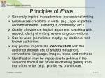 principles of ethos