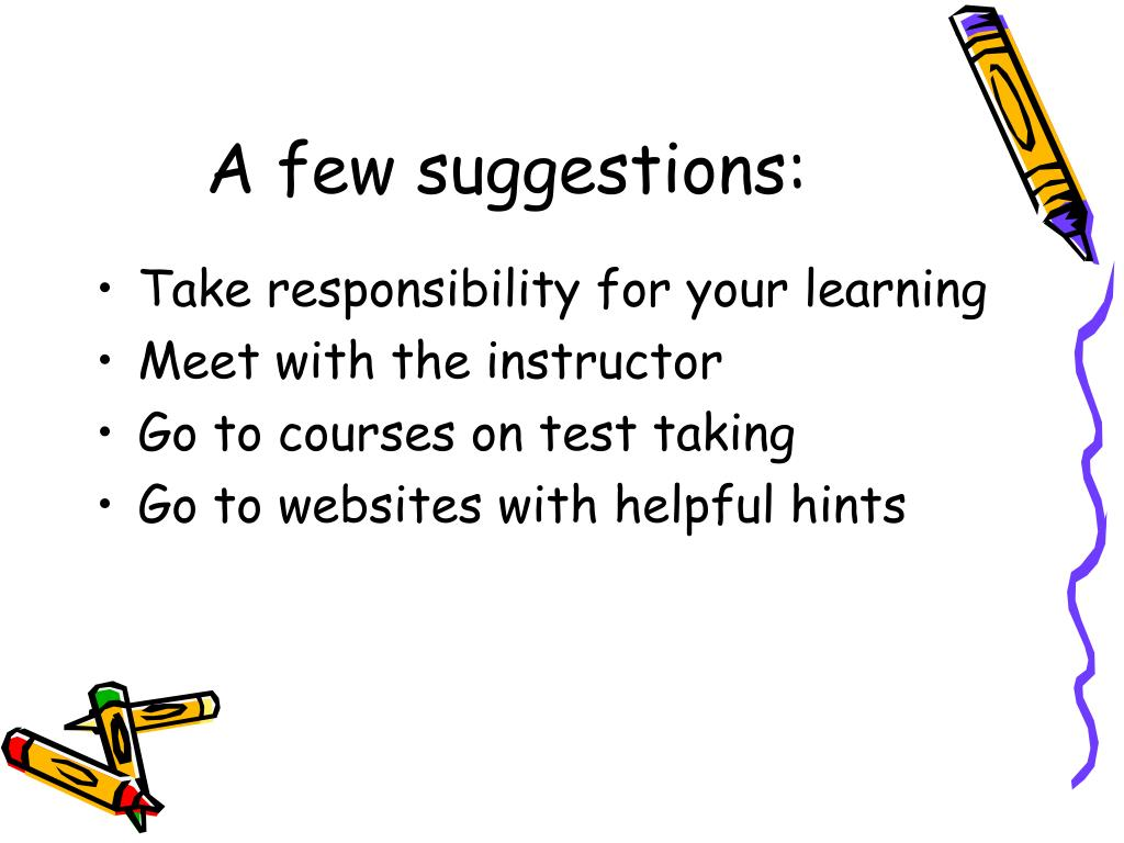 A few suggestions: