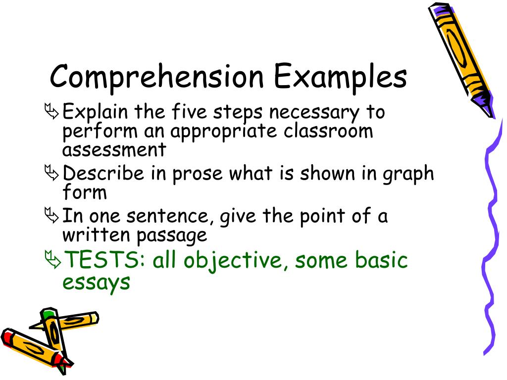 Comprehension Examples