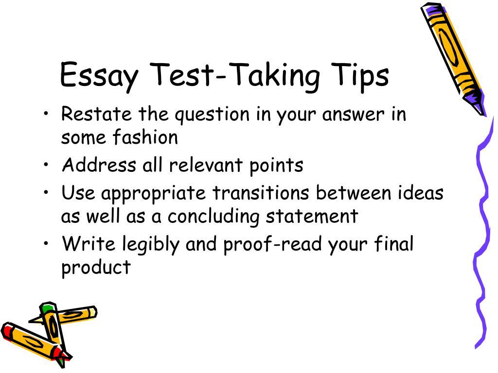 Essay Test-Taking Tips