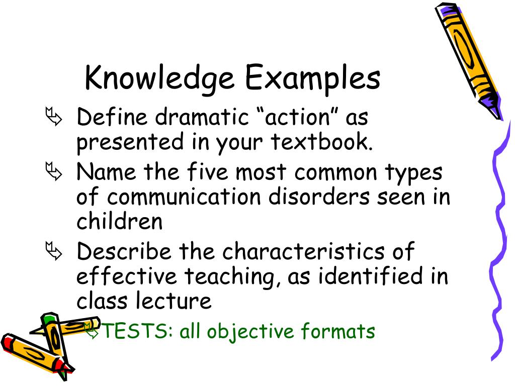Knowledge Examples
