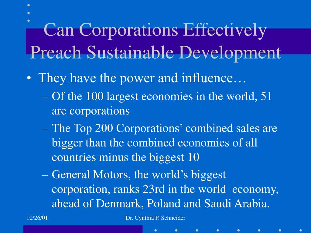 Can Corporations Effectively Preach Sustainable Development