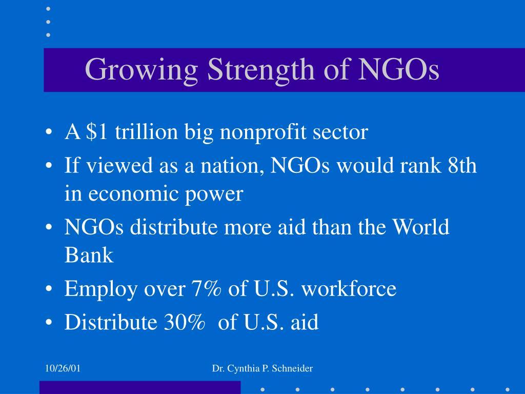 Growing Strength of NGOs