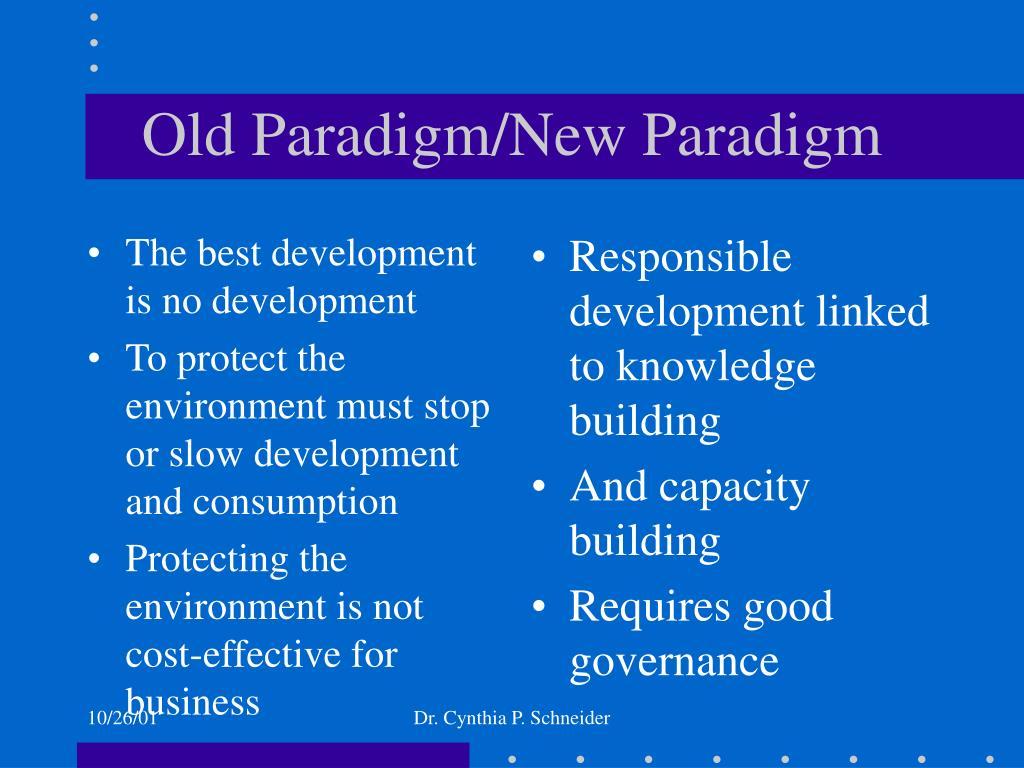 The best development is no development