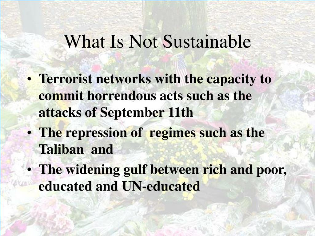 What Is Not Sustainable