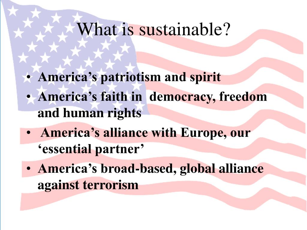 What is sustainable?