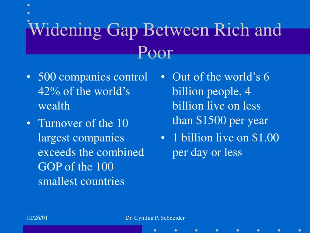 500 companies control 42% of the world's wealth