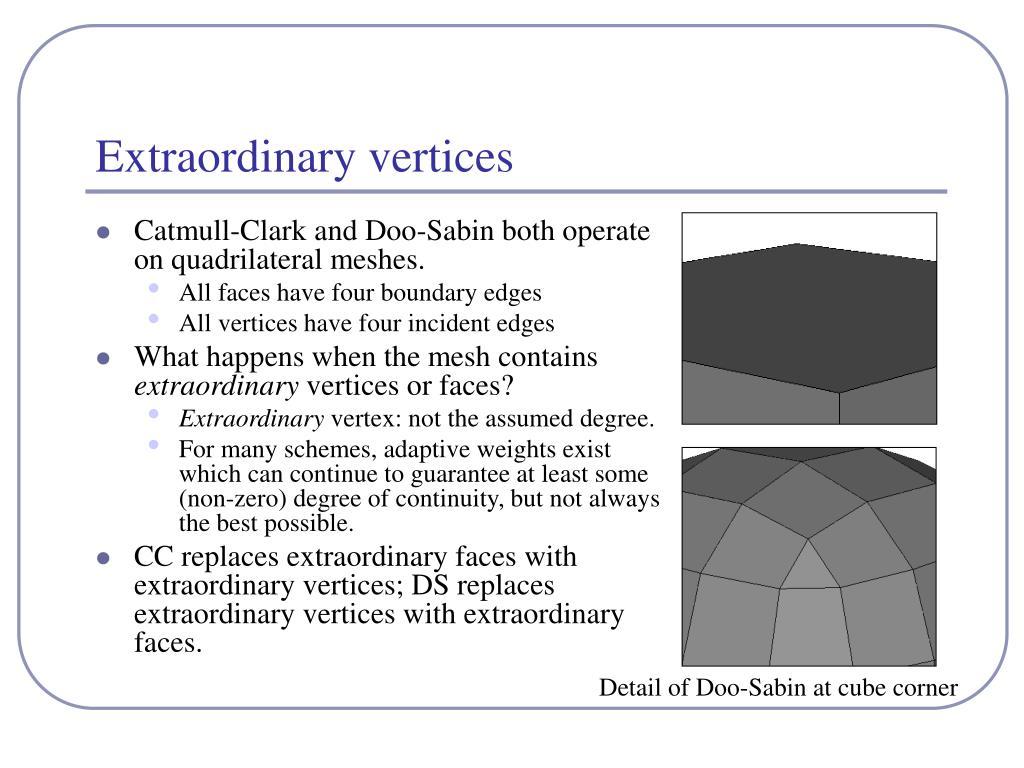 Extraordinary vertices