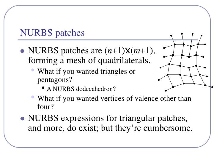 Nurbs patches