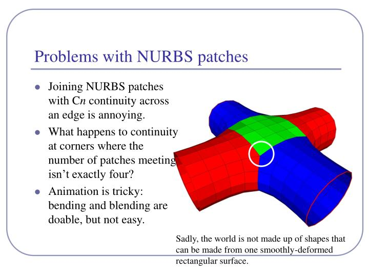 Problems with nurbs patches