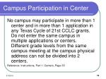 campus participation in center