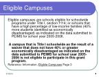 eligible campuses