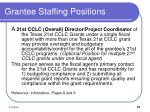 grantee staffing positions21