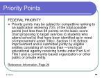 priority points