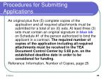 procedures for submitting applications