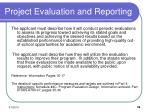 project evaluation and reporting