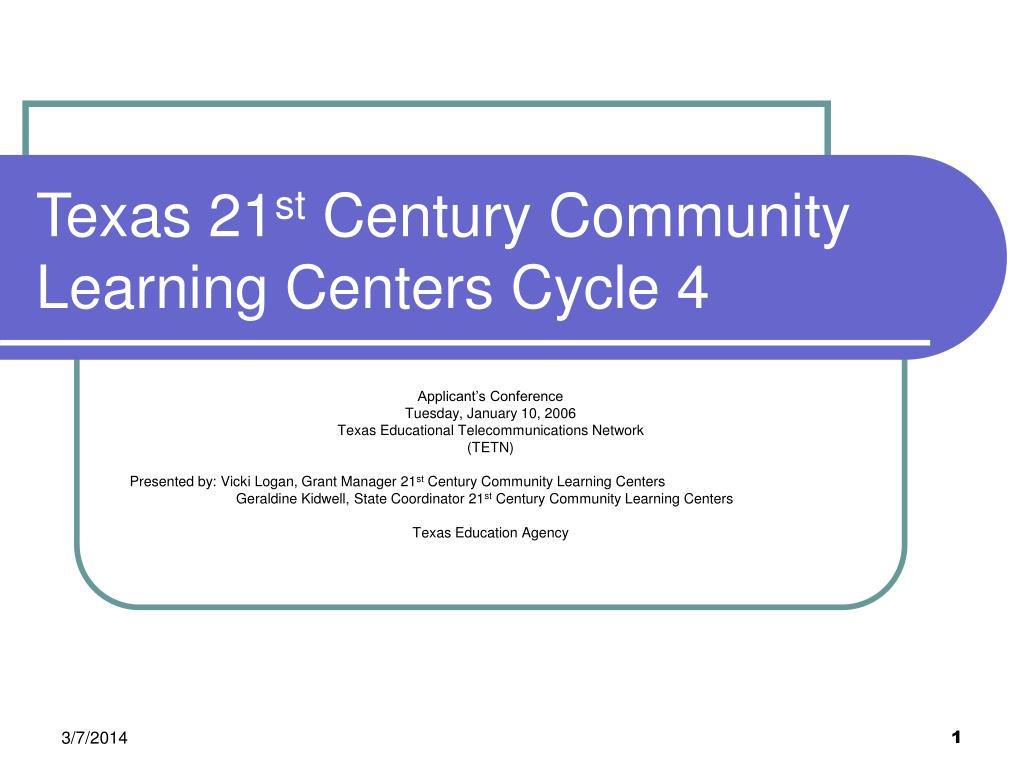 texas 21 st century community learning centers cycle 4 l.