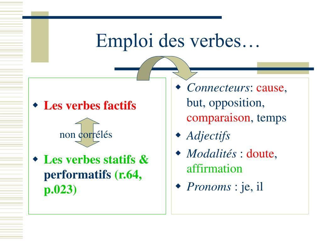 Les verbes factifs