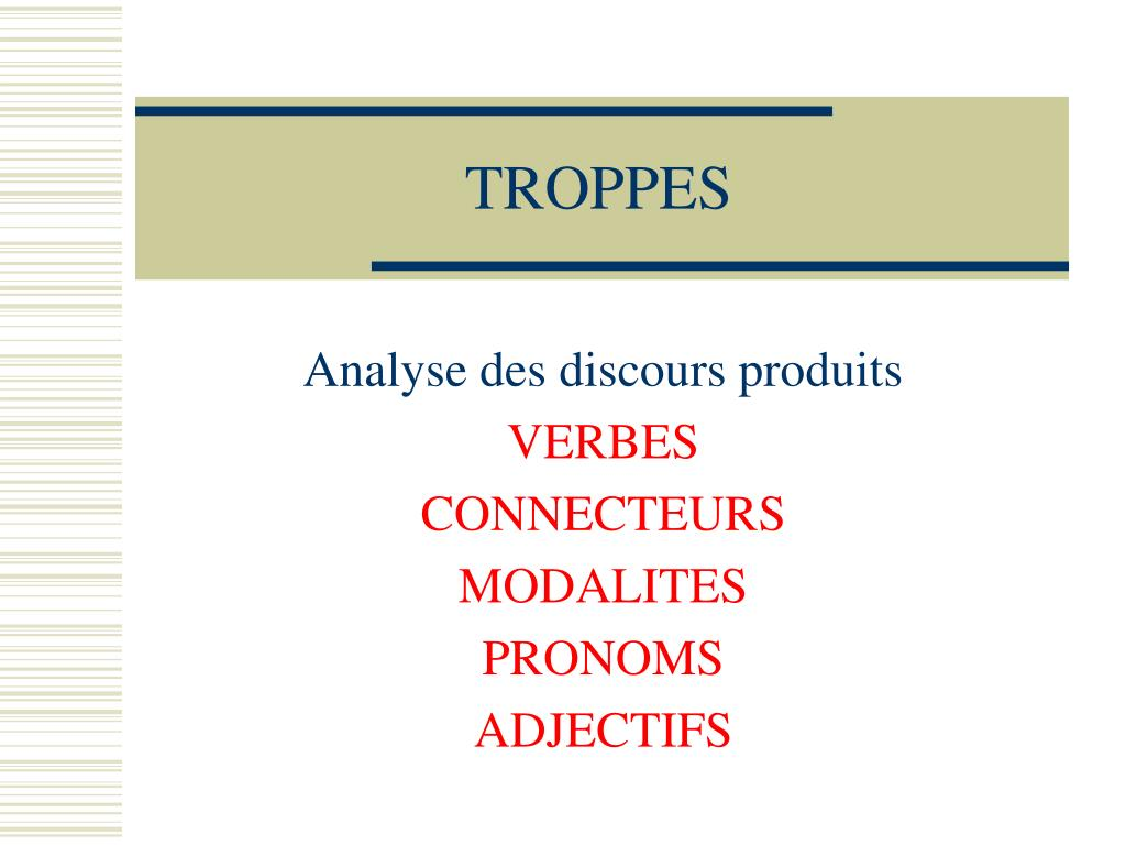 TROPPES