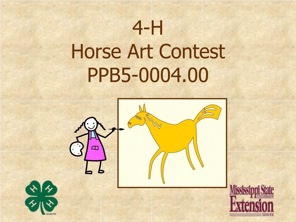 4 h horse art contest ppb5 0004 00 l.