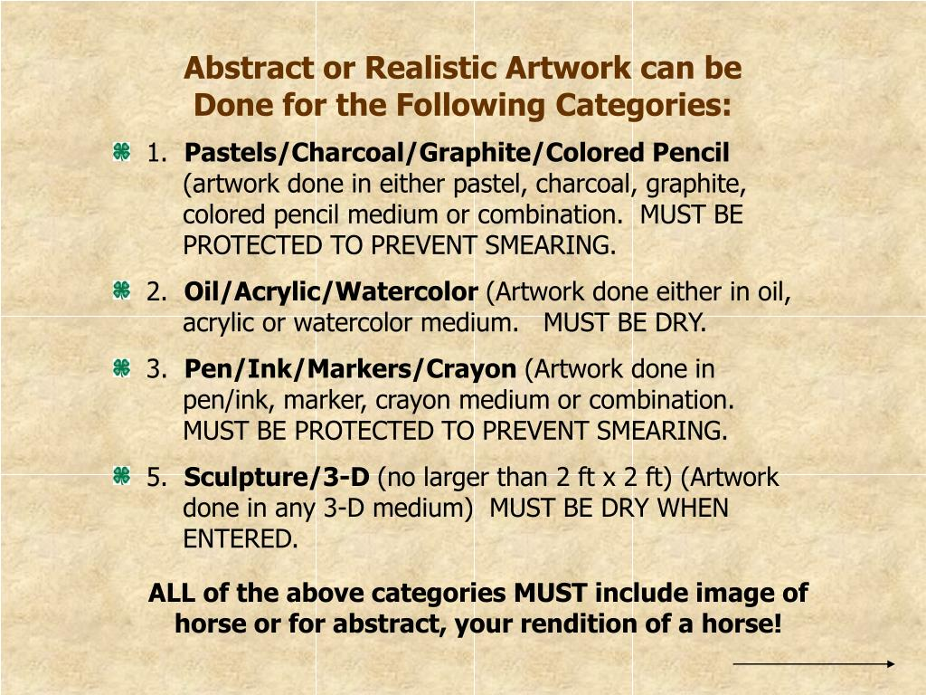 Abstract or Realistic Artwork can be