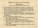 rules for horse art contest