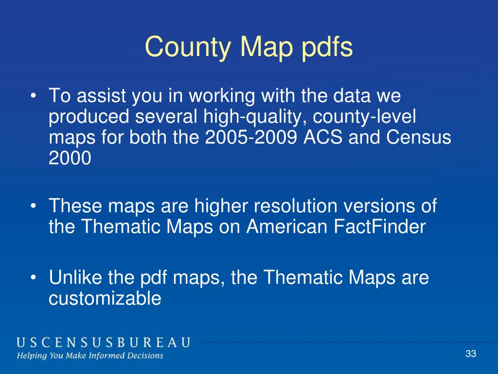 County Map pdfs