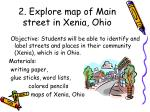 2 explore map of main street in xenia ohio
