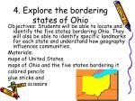 4 explore the bordering states of ohio
