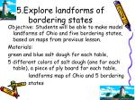 5 explore landforms of bordering states