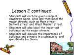 lesson 2 continued