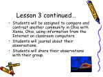 lesson 3 continued