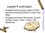 lesson 4 continued