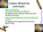 lesson websites continued20