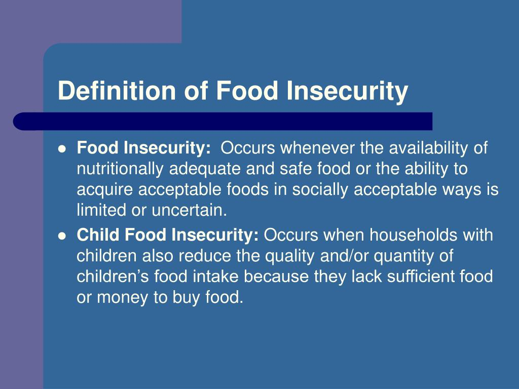 Definition of Food Insecurity