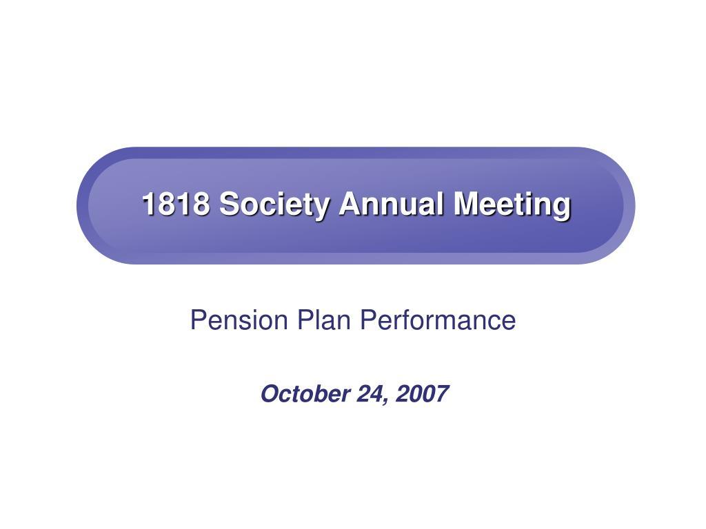1818 society annual meeting l.