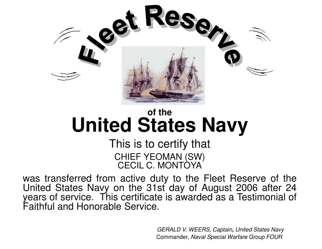 Fleet Reserve