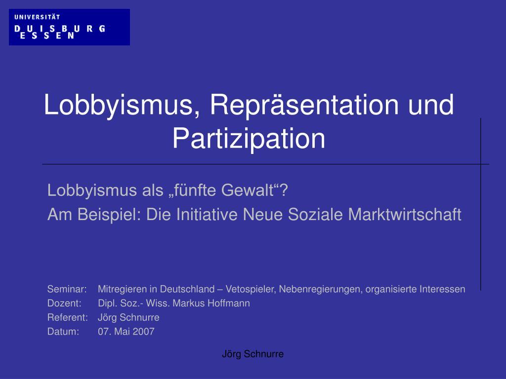 Lobbyismus In Deutschland Am Beispiel Des